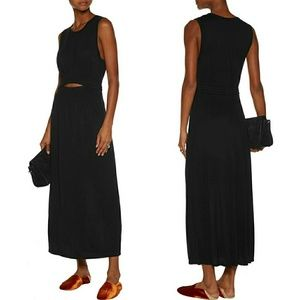 A.L.C. hudson cutout jersey midi dress black large
